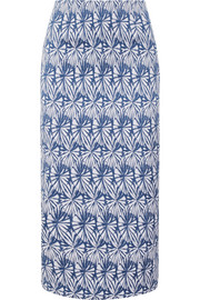 Stretch-jacquard pencil skirt