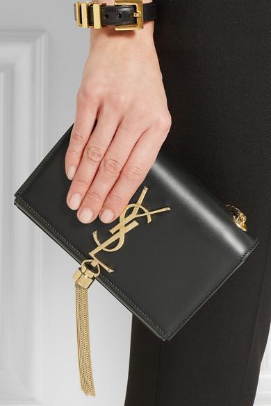ysl chyc clutch beige - yves saint laurent kate monogram crocodile-embossed clutch bag ...