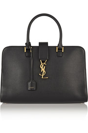 Saint Laurent Monogramme Cabas medium leather tote