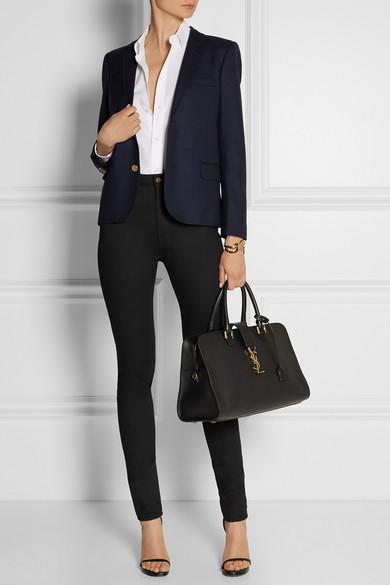 classic monogram saint laurent shopping bag