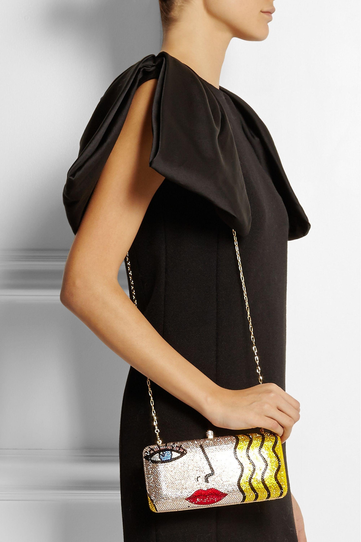 Sylvia Toledano X-Pop Girl Swarovski crystal-embellished clutch