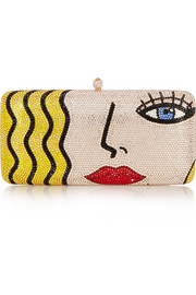 Sylvia Toledano X-Pop Girl Swarovski crystal-embellished clutch