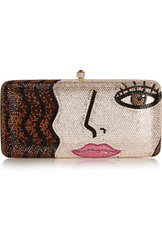 X-Pop Girl Swarovski crystal-embellished clutch