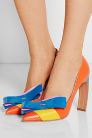+ Roksanda Ilincic bow-embellished leather pumps