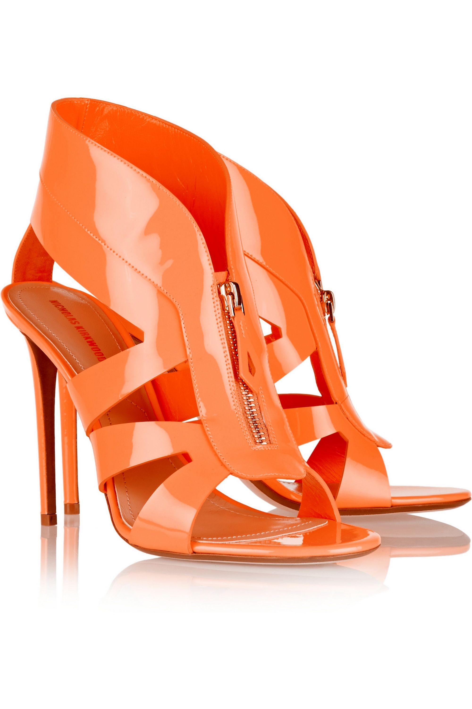 Nicholas Kirkwood Neon patent-leather sandals