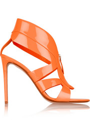 Neon patent-leather sandals