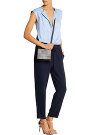 Collection cotton-chambray and crepe jumpsuit
