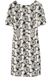 Collection floral-embroidered cotton dress