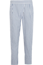 J.Crew Striped cotton herringbone-twill pants