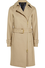 Collection bonded cotton-gabardine trench coat