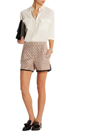 Collection metallic jacquard shorts