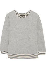 Cotton-blend jersey sweatshirt
