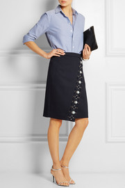 J.Crew Collection embellished bonded-twill skirt