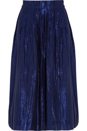 J.Crew Metallic cotton-blend voile skirt