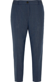 J.Crew Collection Ludlow pinstriped wool straight-leg pants