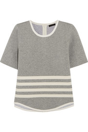 Striped scuba-jersey top