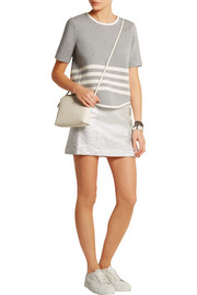 J.Crew Striped scuba-jersey top