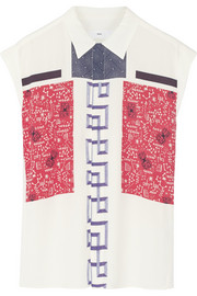 Toga Printed crepe top