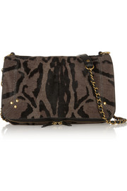 Jérôme Dreyfuss Bobi leopard-print calf hair shoulder bag