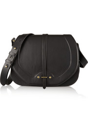 Nestor leather and suede shoulder bag