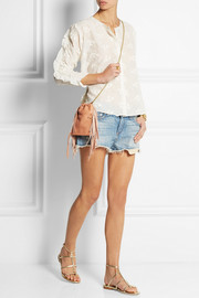 Jérôme Dreyfuss Gary small fringed textured-leather shoulder bag
