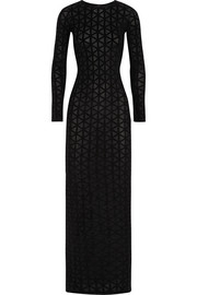 Gareth Pugh Geometric devoré-velvet maxi dress