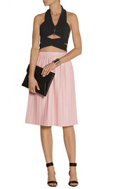Dion Lee Cutout crepe halterneck top