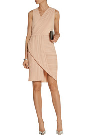 Dion Lee Wrap-effect plissé-crepe dress