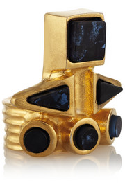 Vionnet Gold-plated resin ring