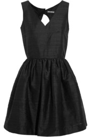 House of Holland April silk-shantung mini dress