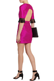 House of Holland Grace tulle-trimmed silk-shantung mini dress