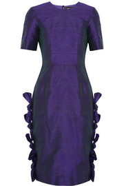 House of Holland Polly silk-shantung dress