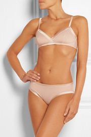Paradis Olympe satin-trimmed stretch-cotton soft-cup triangle bra
