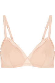 Eres Paradis Olympe satin-trimmed stretch-cotton soft-cup triangle bra