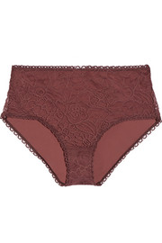 Estampe Gouache high-waisted lace briefs