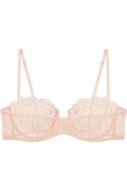 Eres Volupté Sérénité embroidered tulle underwired bra