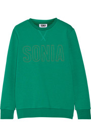 Sonia by Sonia Rykiel Embroidered French-terry sweatshirt