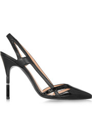 Roland Mouret Roko perforated leather pumps