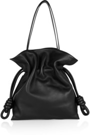 Flamenco Knot large leather shoulder bag