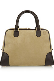 Amazona 75 large leather and suede tote
