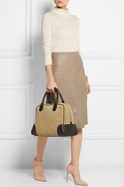 Loewe Amazona 75 large leather and suede tote