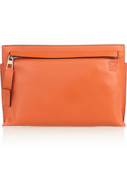 Medium leather clutch