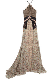 Stella McCartney Green Carpet Challenge: lace and floral-print silk-chiffon gown