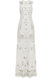 Needle & Thread Embellished georgette gown