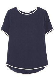 Equipment Riley washed-silk top
