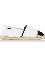 Karl Lagerfeld Two-tone canvas espadrilles
