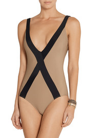 Amorgos two-tone swimsuit