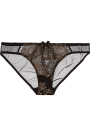 L'Agent by Agent Provocateur Iana metallic lace and tulle briefs
