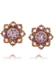 22-karat gold amethyst earrings