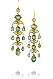 22-karat gold tourmaline earrings
